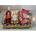 Presente Whiskty Johnnie Walker Red Label, Chocolate e Petiscos