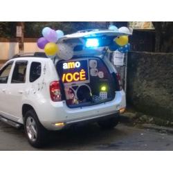 Homenagem com carro de som + Cesta de Lanche Média. . LIGAR PARA CONSULTAR DISPONIBILIDADE E PREÇO DO LOCAL.